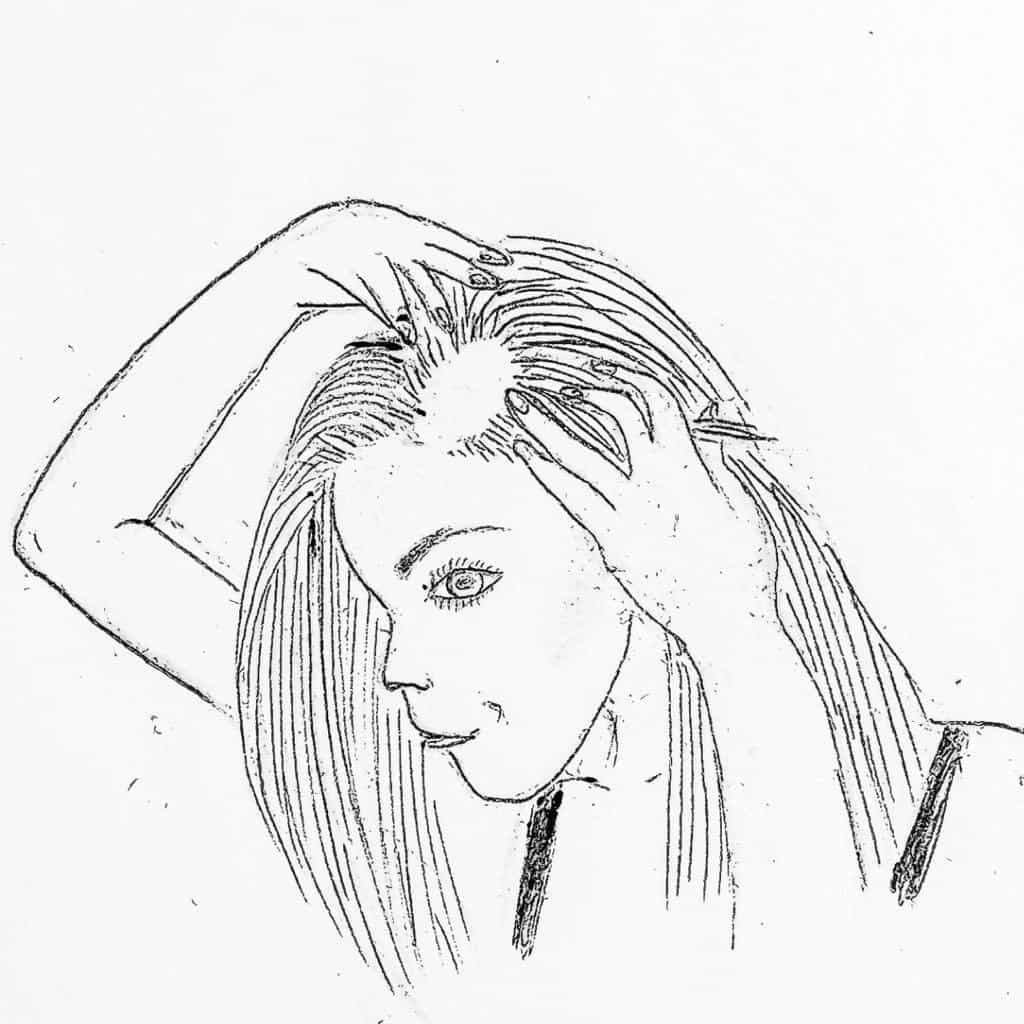 pencil-drawing-of-girl-with-hair-loss